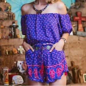 Spell & The Gypsy Collective Pants - Spell & The Gypsy Purple Sunset Road Romper Medium